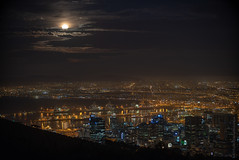 Full Moon Rise Over Cape Town (www.mikereidphotography.com) Tags: southafrica capetown moon sunset landscape city africa fuji gfx50s