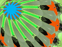 Africom (Kombizz) Tags: kombizz kaleidoscope experimentalart experimentalphotoart photoart epa samsung samsunggalaxy fx abstract pattern art artwork geometricart c562 africom military green black gray blue orange