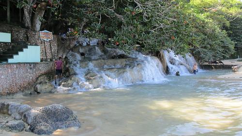 """Jamaica -  Ocho Rios: """"Tornado"""" Entrance to Dunn's River Falls - climbing up from sea level"""