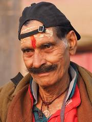 Varanasi - Pilgrim (sharko333) Tags: travel reise voyage asia asien asie india indien uttarpradesh वाराणसी varanasi benares kashi hinduisme portrait people man pilgrim olympus em1