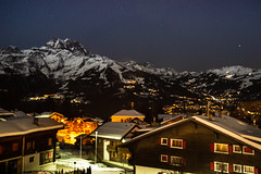 Alpine nightime (Stuart.67) Tags: nikon d800 villars switzerland night nightshot longexposure chalet lights alps alpine mountains snow dark