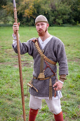 Russian knight (KonstEv) Tags: knight russian armour spear lance spearman russia ancient zeiss makroplanar
