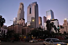 Nearing Sunset - Bustling Pershing Square, L.A.