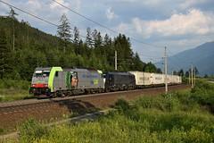 486 507 + 189 927, TEC 42292. Kolbnitz (M. Kolenig) Tags: 486 bls 189 tauernbahn wolken wiese wald