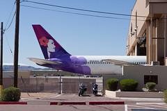 ex-Hawaiian Airlines Boeing 767-300ER N583HA (jbp274) Tags: gyr kgyr airport airplanes boneyard wfu stored boeing 767 ha tail hawaiianairlines