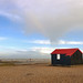 Red Roofed Black Hut