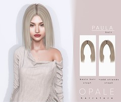 Opale . Paula Hair @ LEVEL February'19 (Opale HairStore) Tags: hair opale 3d salon event level sl second life