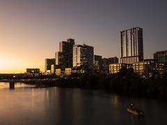 One Lovely Evening (joncutrer) Tags: austin austintexas downtownaustin downtown atx texas sunset dusk building city cityscape skyline water lake river jcutrer