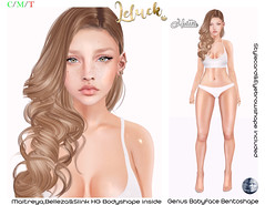 [LeLuck]Genus Bentoshape Hattie (Sunkora) Tags: genus maitreya belleza slink ebento event shape babyface stylecard eyebrowshape new