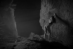 _D3X0017 (an Artist Without Art) Tags: rock stone cave mine grottesco paesaggio grotte attitude purity clean ponder contemplate muse cogitate reflect edonismo monochrome fade gray leotard francesca sexy tonic atletic arse girl goddess dark body beauty gorgeus noir shades ass slim fit statue woman marble urbex loneliness cavern antrum sarajevo earth deep underexposed texture abyss larrygelmini curve perfect