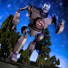 Iron Giant Dash (Jezbags) Tags: giant toy toys 90s 1990s sentinel tree sky night robt robot alien canon canon80d 80d 100mm macro macrophotography dreams stars iron irongiant run dash trees