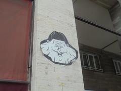908 (en-ri) Tags: freaculo bianco nero testa head faccia face viso volto bologna wall muro graffiti writing poster manifesto uomo man
