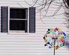 Annette's Spinner (joeldinda) Tags: house window hedge winter weather snow decorations nikon1v2 v2 village tree 4390 january 1v2 nikon michigan mulliken 2019 21365