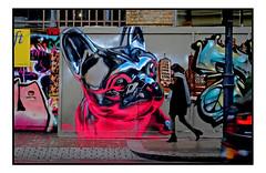 STREET ART by FANAKAPN (StockCarPete) Tags: fanakapan dog heliumballoon inflatable london uk streetart londonstreetart graffiti urbanart shoreditchart animal animalart pavement