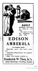 1913  Frederick W. Tietz Jr.  Edison Amberola ad (albany group archive) Tags: early 1900s music store 718 broadway old albany ny vintage photos picture photo photograph history historic historical