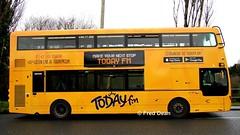 Bus Eireann VWD42 (151C7159). (Fred Dean Jnr) Tags: buseireannroute215 volvo buseireann b5tl vwd42 151c7159 tower cork january2019 wrap todayfm wright alloverad wrightbus yellow