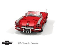 Chevrolet C1 Corvette 1962 Roadster (lego911) Tags: chevrolet chevy chev corvette vette 1962 1960s classic c1 boattail coves v8 327 smallblock usa america american auto car moc model miniland lego lego911 ldd render cad povray gm general motors fi fiberglass fibreglass marvel avengers film movie superhero
