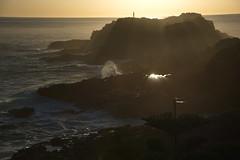 Kiama blow hole (shanahands2) Tags: rocks sea waves sunrise light beams reflections nsw kiama