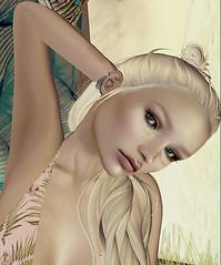 SunBath (Mystica_Art) Tags: summer dream warm sunshine beach wasabi blonde pose
