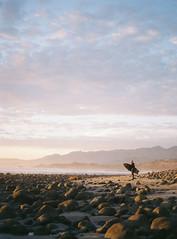 Rincon Beach, California (darylovejr) Tags: 400nc portra 120 kodak film mediumformat pentax67ii surf california sunset