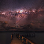 Milky Way setting over Lake Clifton, Western Australia thumbnail