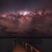Milky Way setting over Lake Clifton, Western Australia