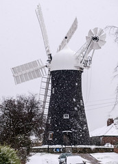 Holgate Windmill in snow, February 2019 - 01