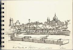 En El Puente de Segovia (f.gómezcorisco) Tags: dibujo rotulador madrid castejao urbansketchers apunte boceto arquitectura cuaderno eu