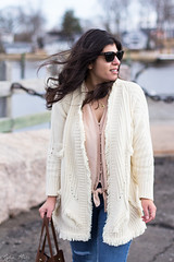fringe cardigan, silk button down top, blush suede booties, bucket bag-4.jpg (LyddieGal) Tags: anthropologie thrifted spring oldnavy jeans fashion boots outfit blush white beach monogram denim gap connecticut weekendstyle style marleylilly wardrobe swap rayban joie tjmaxx