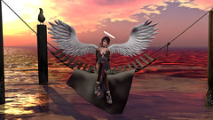 Angel of the Sunset (Tevor Z) Tags: secondlife angel sunset saltwater