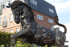 Horse Outside Hexagon Classics, Great North Road (Loz Flowers) Tags: london barnet publicsculpture horses cogs eastfinchley