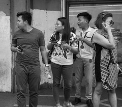 Wow look at that! (Beegee49) Tags: street people looking surprise blackandwhite monochrome bw luminar sony a 6000 bacolod city philippines asia