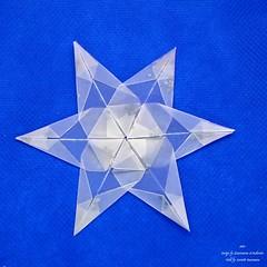 Star (Zsuzsanna Kricskovics) 1 (AnkaAlex) Tags: origami origamistar modularorigami paperfolding whitestar translucentpaper