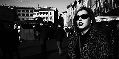 More than a bird, more than a plane, more than some pretty face...... (Baz 120) Tags: candid candidstreet candidportrait city contrast street streetphotography streetphoto streetcandid streetportrait strangers rome roma ricohgrii europe women monochrome monotone mono noiretblanc bw blackandwhite urban life portrait people italy italia grittystreetphotography faces decisivemoment
