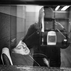 Self portrait with sleeping security guard (Michael Wögerbauer) Tags: holešovice leicam9 prag prague praha publicsleeper streetphotography summicron35asph selfie blackandwhite blackwhite schwarzweiss schwarzweis reportage tschechischerepublik českárepublika českotschechien publicsleepers