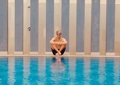012/365: in his element (Michiko.Fujii) Tags: pool swimmingpool blueisbest water watersedge wateriseverywhere poolside poolportrait smile pastels