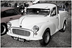 1968 Austin Pick-up RVF 841G (BIKEPILOT, Thx for + 5,000,000 views) Tags: 1968 austin pickup rvf841g monochrome bw blackwhite brooklandsnewyearsdaygathering brooklandsmuseum weybridge surrey uk 2019 automobile vehicle transport vintage classic