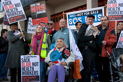 HOFFMAN_NHS_MARCH_070303_017 (hoffman) Tags: activism activist affliction banner british britishisles campaign campaigner campaigning crowd daylight demo demonstrate demonstrater demonstrating demonstration demonstrator disability disabled disablement disorder ec eec england english eu europe europeanunion female governmentservices greatbritain group handicap handicapped health horizontal lady march marching midwives nhs nurses outdoors people placard protest protesting street uk unitedkingdom walking wheelchair woman workers