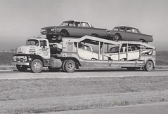 1956 Ford C600: E&L Transport #1630 (PAcarhauler) Tags: coe cabover semi carcarrier truck tractor trailer