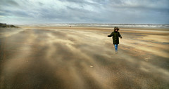 The Wind (PentlandPirate of the North) Tags: wind sandstorm beach sand boy sea shiftingsands drifting poetry