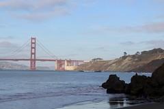 View of Golden Gate Bridge from China Beach (daveynin) Tags: goldengatebridge bridge coastline coast beach ocean pacificocean