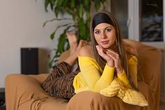 Evening relax (piotr_szymanek) Tags: kornelia korneliaw woman young skinny face eyesoncamera feet hand armchair portrait studio 1k 5k 20f 50f 100f 10k 20k 200f 30k 40k 50k