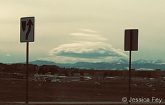 February 13, 2019 - A very cool lenticular cloud to the west. (Jessica Fey)