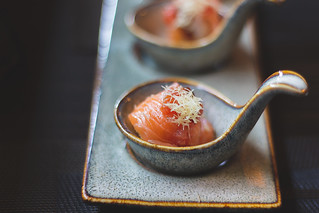 Raw salmon, sashimi, Japanese food