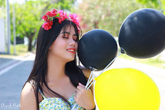 IMG_2750 (Sharmila Padilla) Tags: flowers lady canon portrait ladies balloon outside play pinkflowers pink photography street modes happy joy smile pretty sports white road makeup