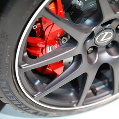 IMG_8398: RC-F Track Edition Brakes (i_am_lee_sam) Tags: 2019 chicago auto car show mccormick place lexus rcf track edition brakes brembo