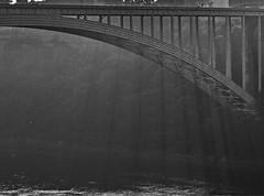 Rainbow Bridge, Niagara Falls (larryvanhowe) Tags: niagara on1raw ontario canada bw bridge northamerica on1