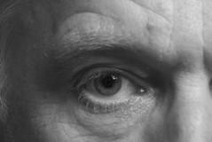 The Eye (The Vintage Lens) Tags: human eye bw male man eyeball monochrome