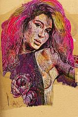 Portrait (Edgard.V) Tags: streetart paris parigi urban art arte urbano callejero mural female femme nude breast sein nudité nudo nudity seno seio femina mulher