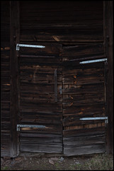 OW XXIV ([ Time - Beacon ]) Tags: tb texture minimal window wooden wall timber old building broken decay rural barn doors doorway hinges
